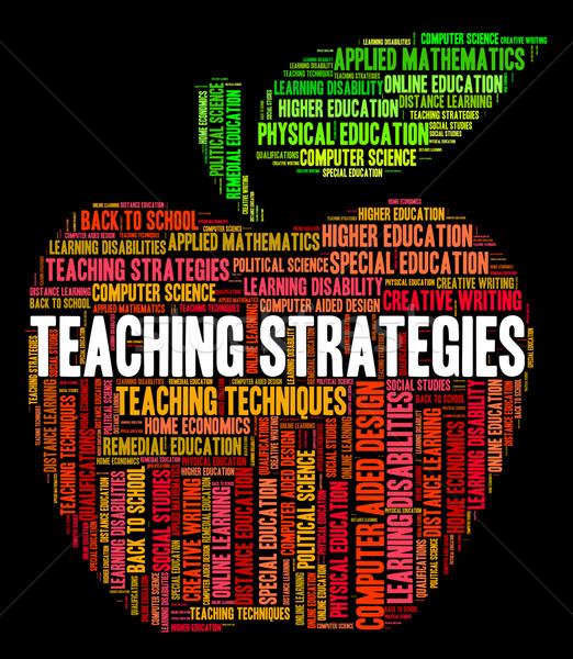 öğretim stratejileri İş stratejisi koç Stok fotoğraf © stuartmiles