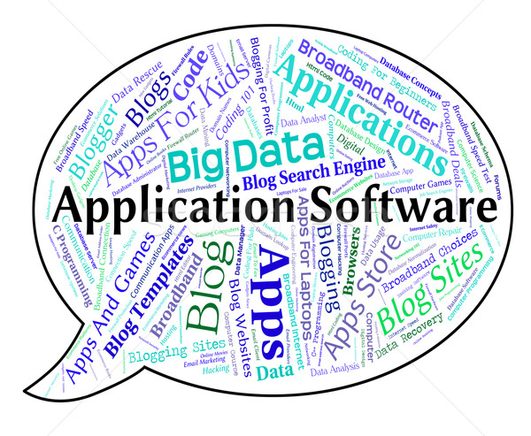Application Software Means Programs Applications And Shareware Stock photo © stuartmiles