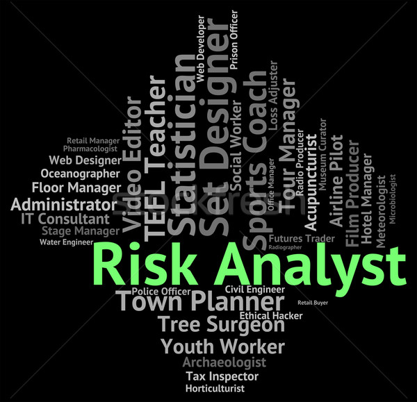 Risk Analyst Represents Work Recruitment And Job Stock photo © stuartmiles