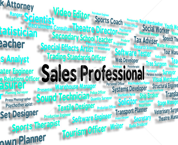 Sales Professional Shows Expertise Selling And Promotion Stock photo © stuartmiles