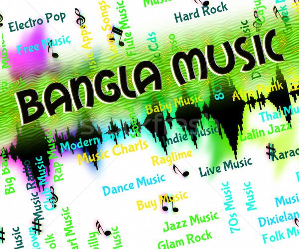 Muzyki dźwięku Bangladesz utwór musical indian Zdjęcia stock © stuartmiles