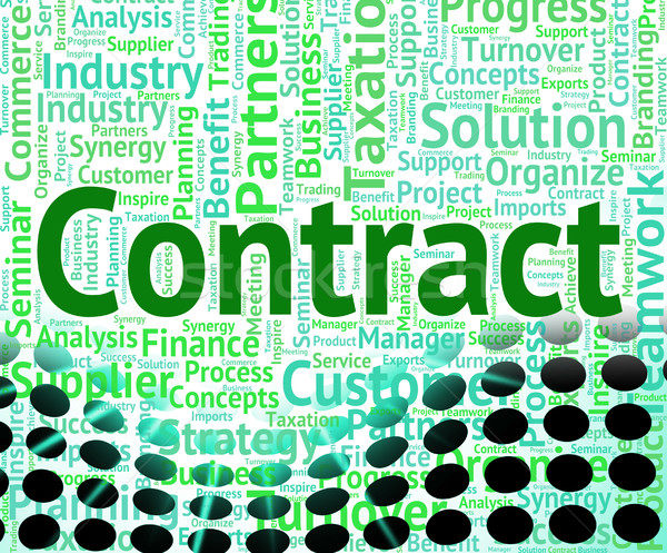 Contract Word Shows Wordclouds Contracted And Text Stock photo © stuartmiles