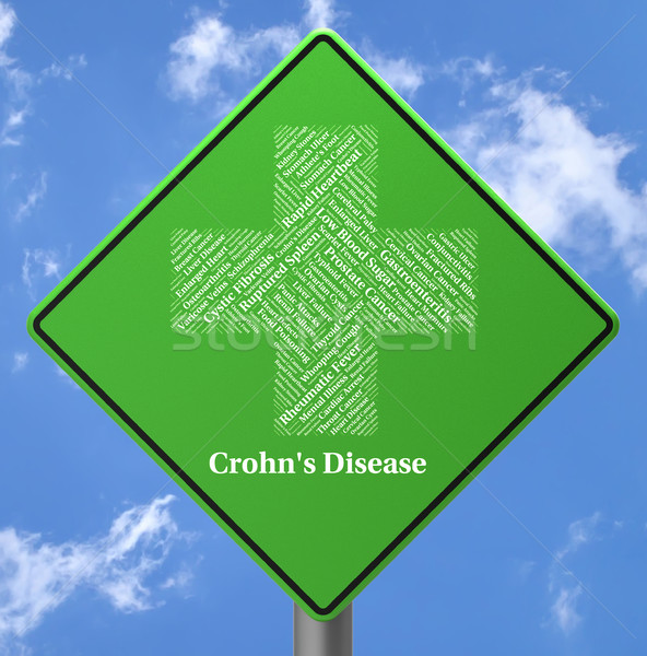 Crohn's Disease Represents Ill Health And Ileitis Stock photo © stuartmiles