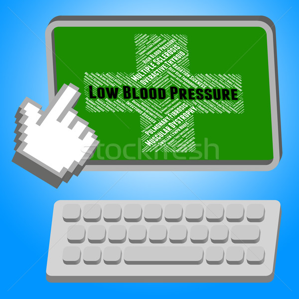 Low Blood Pressure Means Poor Health And Affliction Stock photo © stuartmiles