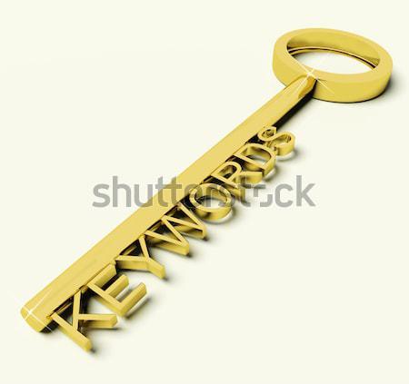 Sleutel toekomst tekst symbool lot gelegenheid Stockfoto © stuartmiles