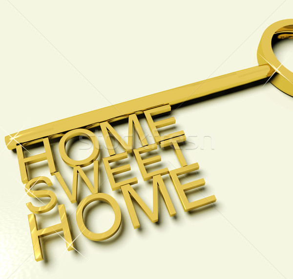 Key With Sweet Home Text As Symbol For Property And Ownership Stock photo © stuartmiles