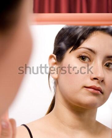 少女 見える ミラー 女性 美 バス ストックフォト © stuartmiles