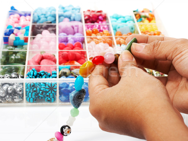 Choosing Beads For A Unique Necklace Stock photo © stuartmiles