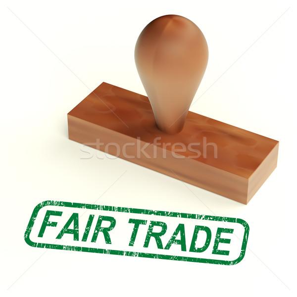 Vásár kereskedelem pecsét etikus termékek mutat Stock fotó © stuartmiles