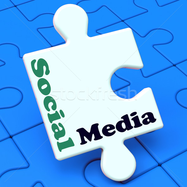 Social Media Shows Online Networking Community Stock photo © stuartmiles