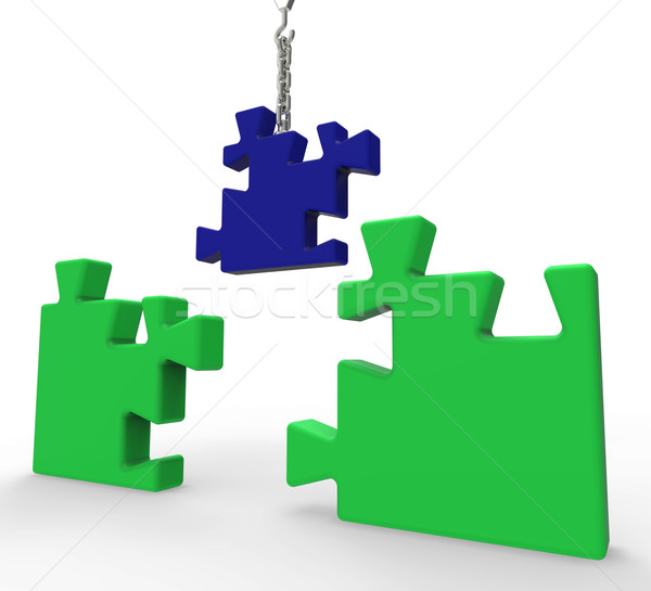 Unfinished Puzzle Shows Solving Problems Stock photo © stuartmiles