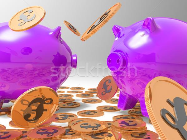 Esik az eső érmék pénz bankügylet gazdag vagyon Stock fotó © stuartmiles