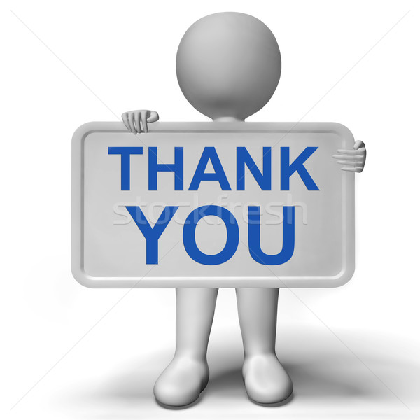 Thank You Sign Showing Thanks And Gratefulness Stock photo © stuartmiles