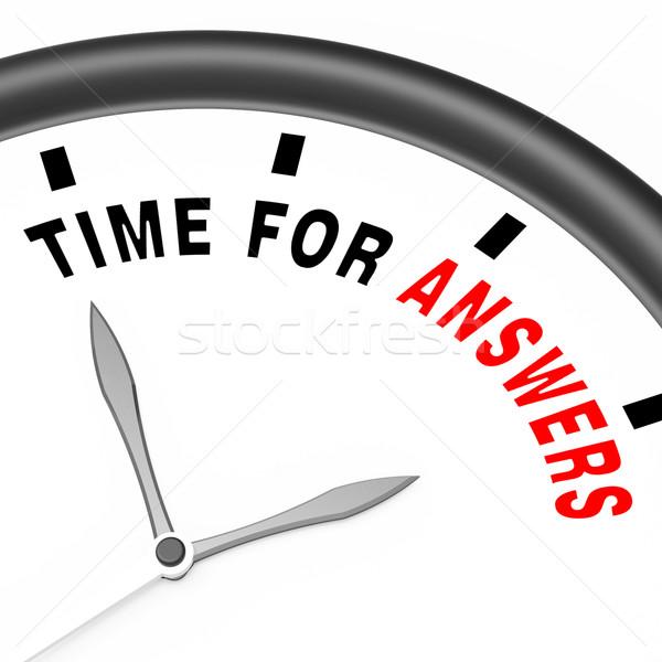 Respostas palavra relógio solução conhecimento Foto stock © stuartmiles