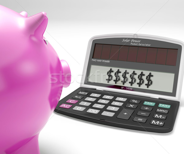 Dollars In Calculator Shows Rich American Fortune Stock photo © stuartmiles