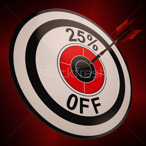 25 Percent Off Shows Markdown Bargain Advertisement Stock photo © stuartmiles