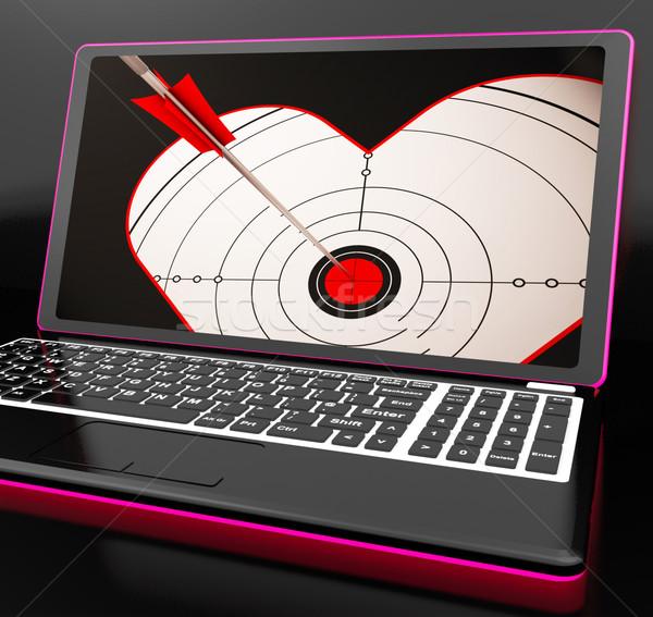 целевой сердце ноутбука любви пару Сток-фото © stuartmiles