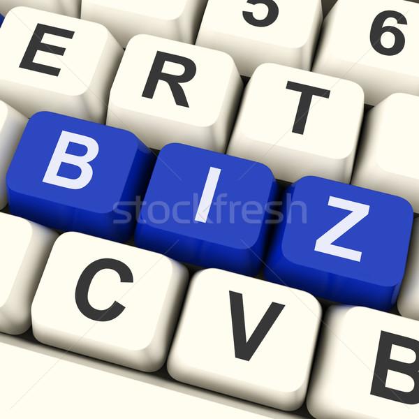 Biz Keys Show Online Or Internet Business Stock photo © stuartmiles
