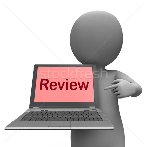 Review Laptop Means Check Evaluate Or Examine Stock photo © stuartmiles