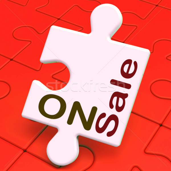 On Sale Puzzle Shows Reduction Savings Or Discounts Stock photo © stuartmiles