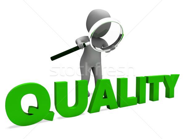 Kwaliteit karakter perfectie goedkeuring uitstekend tonen Stockfoto © stuartmiles