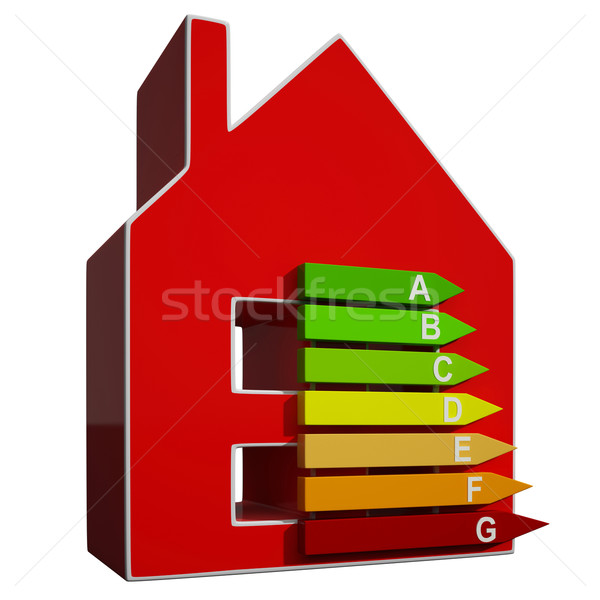 Energy Efficiency Rating Icon Means Efficient House Stock photo © stuartmiles