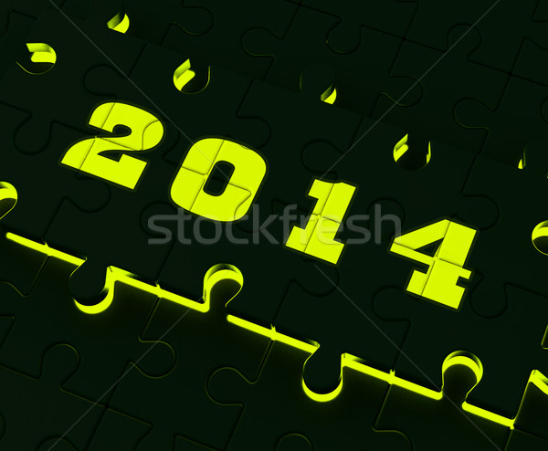 Two Thousand And Fourteen On Puzzle Shows Year 2014 Resolution Stock photo © stuartmiles