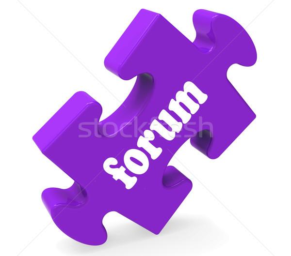 Fórum quebra-cabeça on-line comunidade discussão Foto stock © stuartmiles