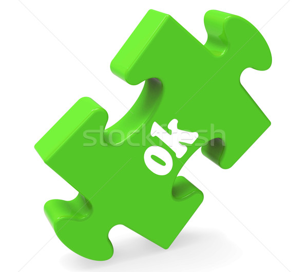 Ok Puzzle Shows Approved Positive Okay Or Passed Stock photo © stuartmiles