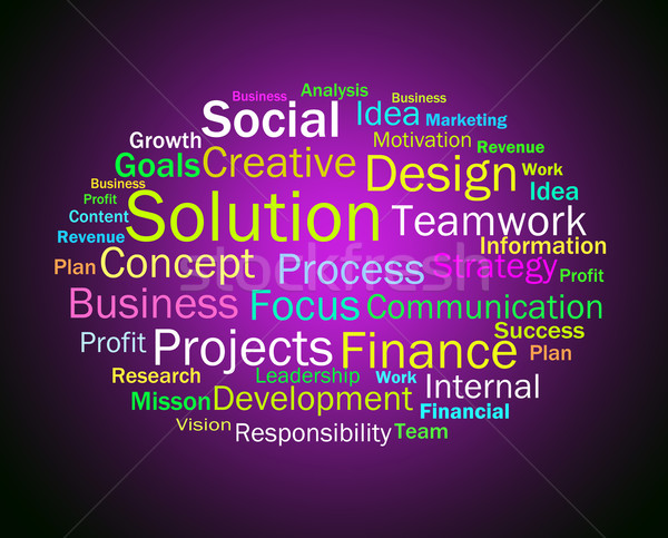 Solution Words Shows Success Resolution Solving And Solved Stock photo © stuartmiles