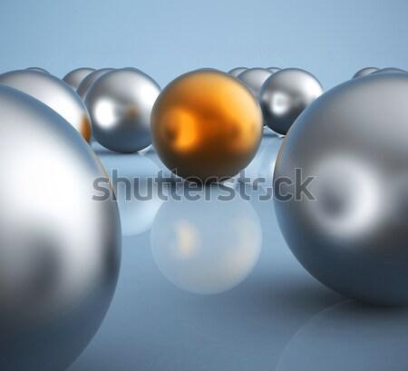 Standing Out Metallic Balls Showing Leadership Stock photo © stuartmiles