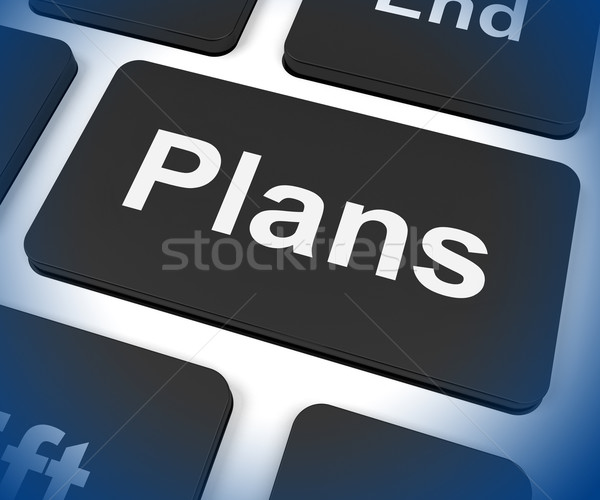 Plans Key Shows Objectives Planning And Organizing Stock photo © stuartmiles