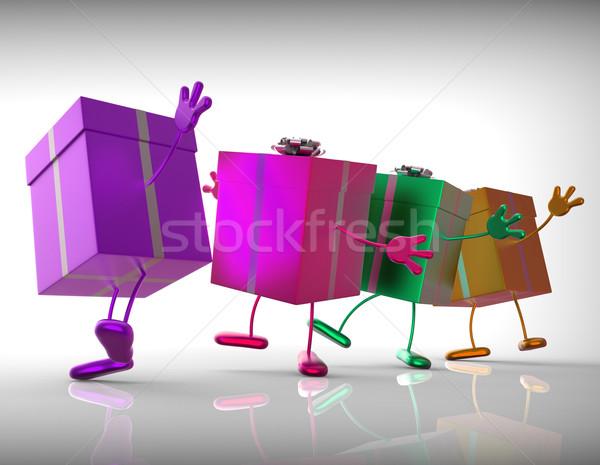 Hediyeler satın almak hediye özel gün doğum günü Stok fotoğraf © stuartmiles