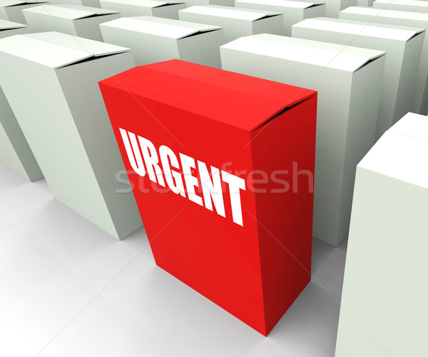 Urgent box Refers to Urgency Priority and Critical Stock photo © stuartmiles