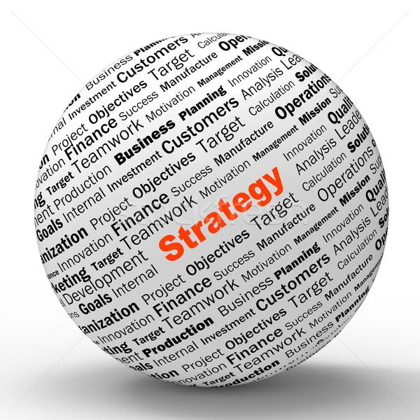 Strategii sferze definicja udany planowania Zdjęcia stock © stuartmiles
