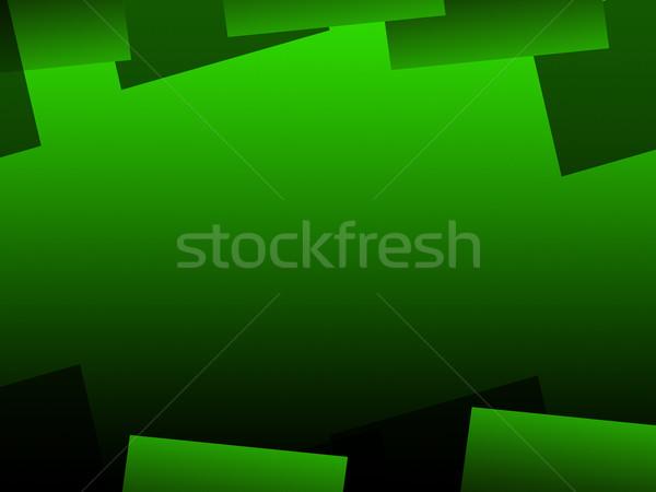 Green Geometric Background Means Digital Art Pattern Stock photo © stuartmiles