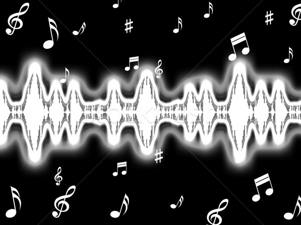 Sound Wave Background Shows Sound Pattern Or Frequency Equalizer Stock photo © stuartmiles