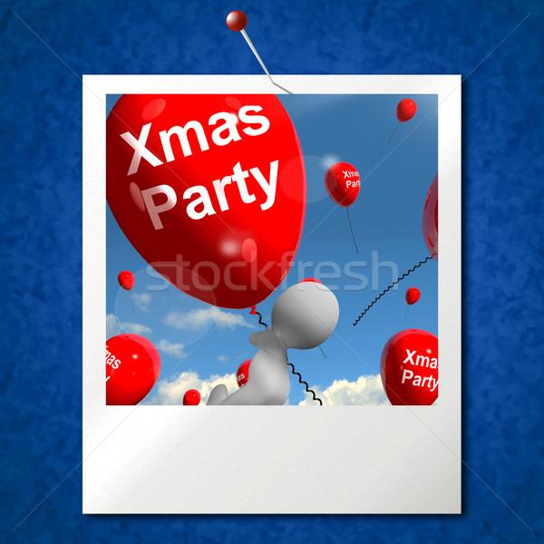 Strony balony Fotografia pokaż christmas Zdjęcia stock © stuartmiles