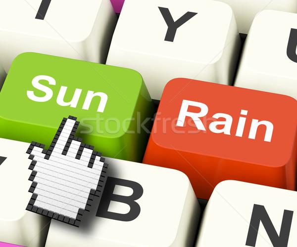 Sun Rain Computer Mean Weather And Seasons Stock photo © stuartmiles