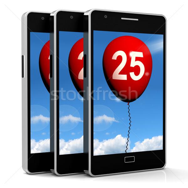 Balloon Shows Twenty-fifth Happy Birthday Celebration Stock photo © stuartmiles