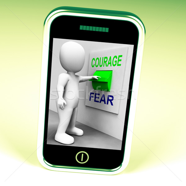 Courage Fear Switch Shows Afraid Or Courageous Stock photo © stuartmiles