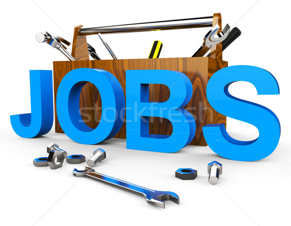Jobs Word Shows Hire Me And Apply Stock photo © stuartmiles