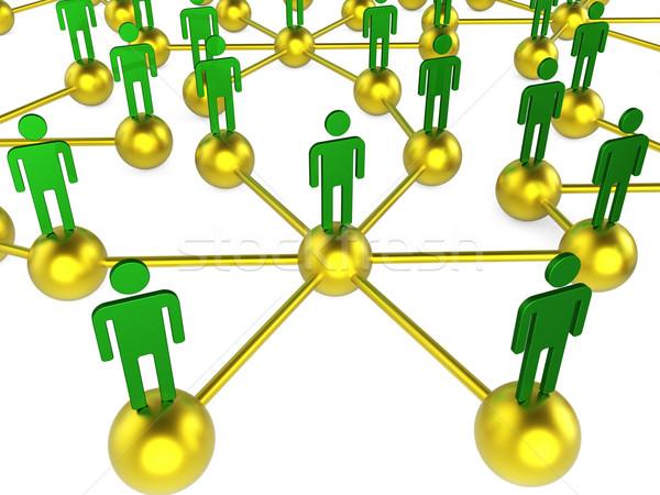 People Network Indicates Chat Digital And Communicating Stock photo © stuartmiles