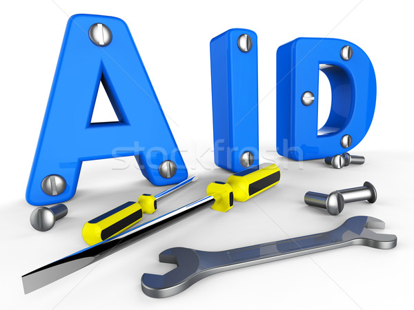 Aid Word Means Info Helps And Answers Stock photo © stuartmiles