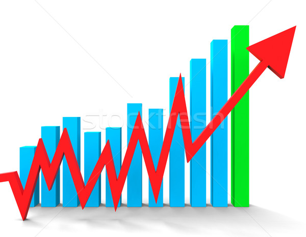 Increasing Graph Shows Financial Report And Advance Stock photo © stuartmiles