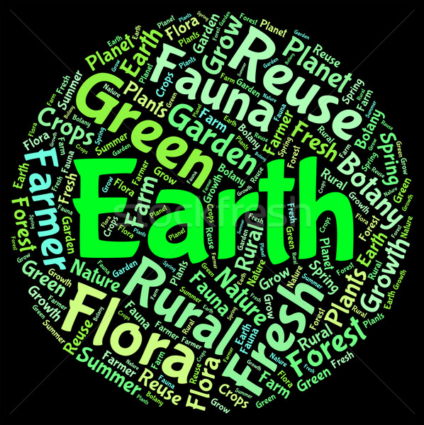 Earth Word Cloud Represents Eco Friendly And Conservation Stock photo © stuartmiles
