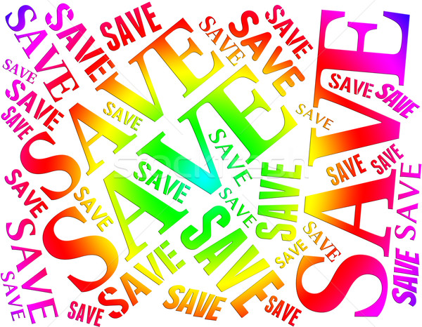 Save Word Shows Retail Financial And Invest Stock photo © stuartmiles