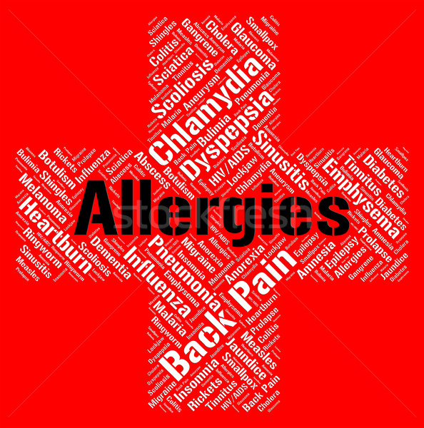 Allergies Word Shows Poor Health And Affliction Stock photo © stuartmiles