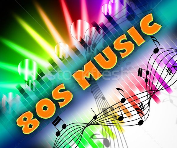 Stock photo: Eighties Music Means Melodies Acoustic And Melody