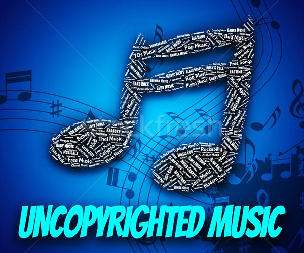 Musique propriété intellectuelle droits sonores suivre travaux Photo stock © stuartmiles